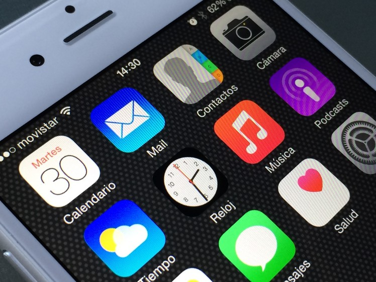 Pantalla con apps - aplicaciones móviles