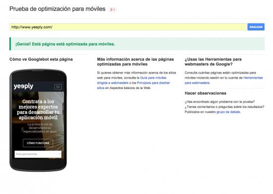 Prueba web móvil