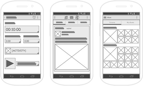 wireframes desarrollo de aplicaciones móviles