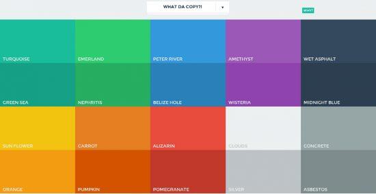 Diseño de apps - paleta de colores
