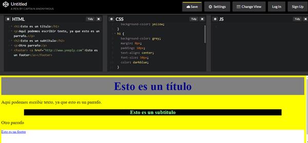 Codepen desarrollo de aplicaciones web