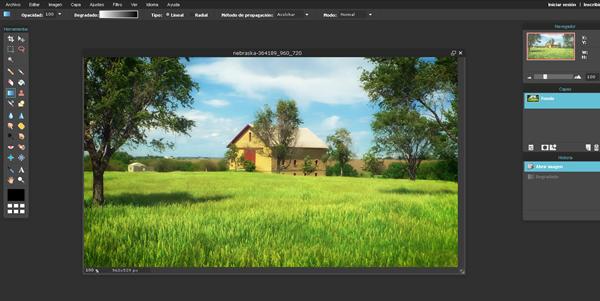 edición foto desarrollo de aplicaciones web