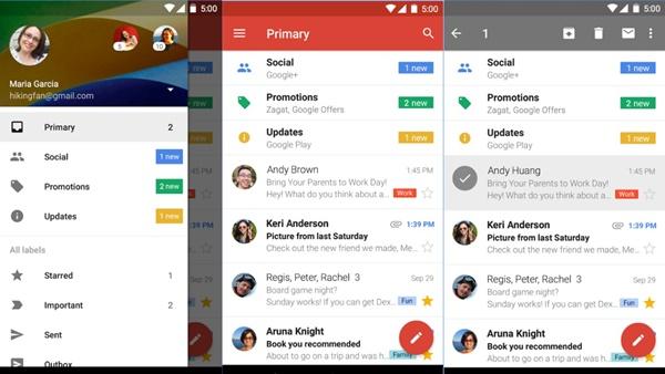 Diseño de Apps Gmail