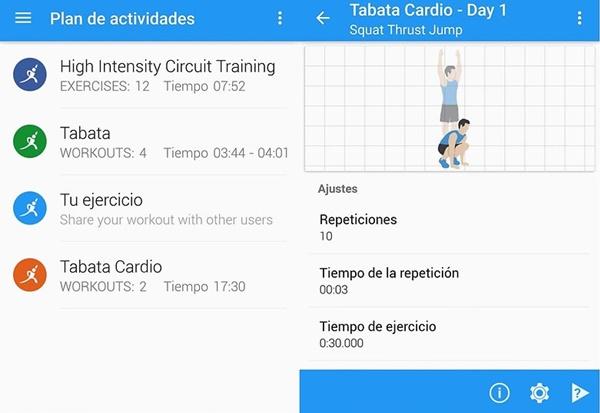aplicaciones móviles inicio entrenamiento