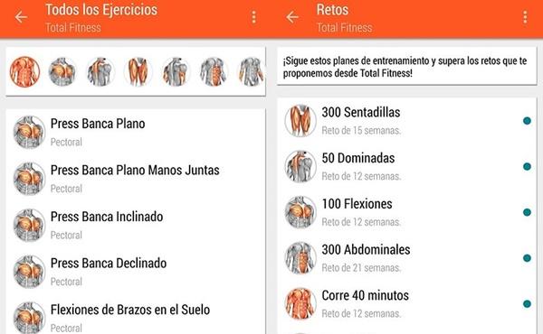 aplicaciones móviles total fitness