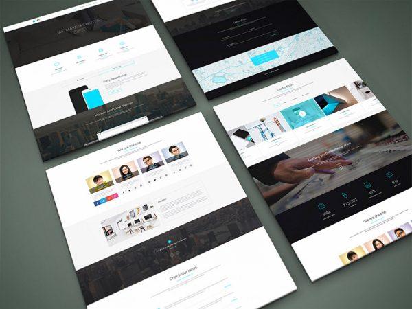 como hacer una pagina web - mockups