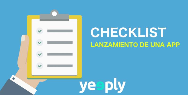 Checklist: Lanzamiento de apps nuevas