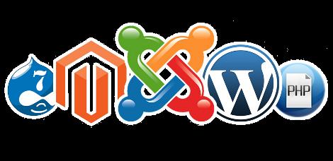 CMS crear páginas web para negocios - WordPress, Magento, Drupal, Joomla