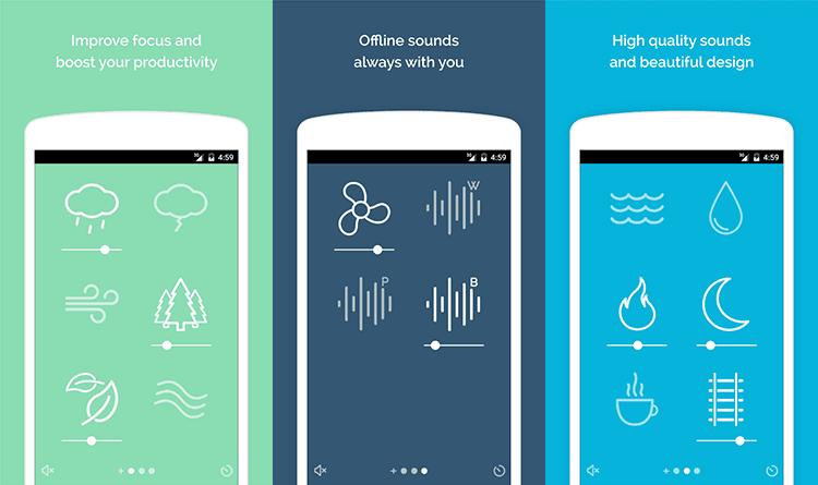 Noisli app - aplicaciones de trabajo