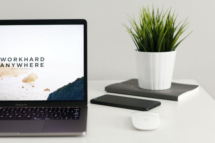 Work hard anywhere screen- aplicaciones de trabajo