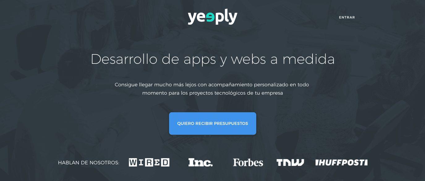 nueva web de Yeeply