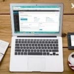 wordpress abierto en un macbook