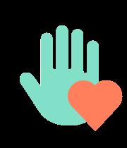 icono mano y corazon