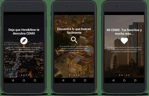 smartphone con app Here&Now