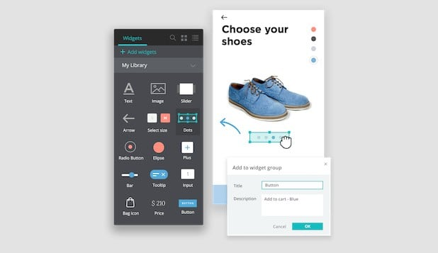Prototipo de app movil - justinmind