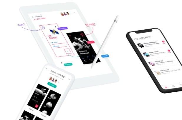 crear prototipo de app online con Invision