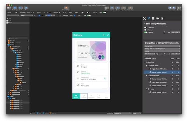 diseñar app online con Antetype