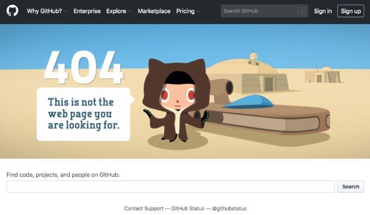 ejemplo de un error 404