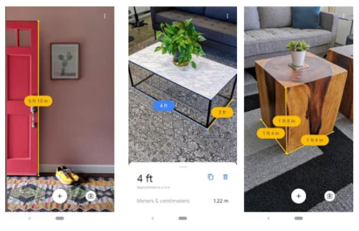 capturas de pantalla de la app Measure