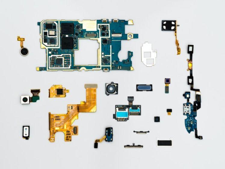 piezas de un micro chip